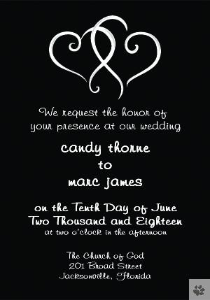 Double Hearts of Love Wedding Invitations ...